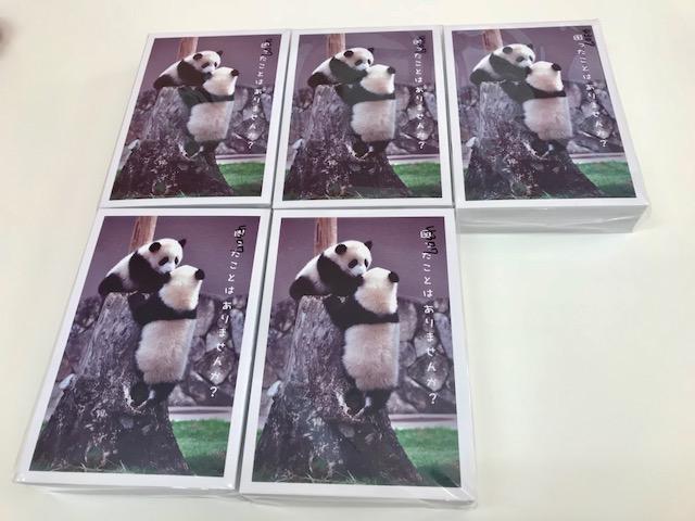先日、来月に発送を予定しておりますポストカードが届きました~。