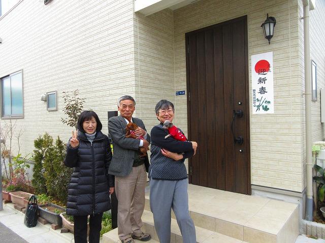 本日は、Y様のお宅を訪ねて新年のご挨拶に行って参りました~。